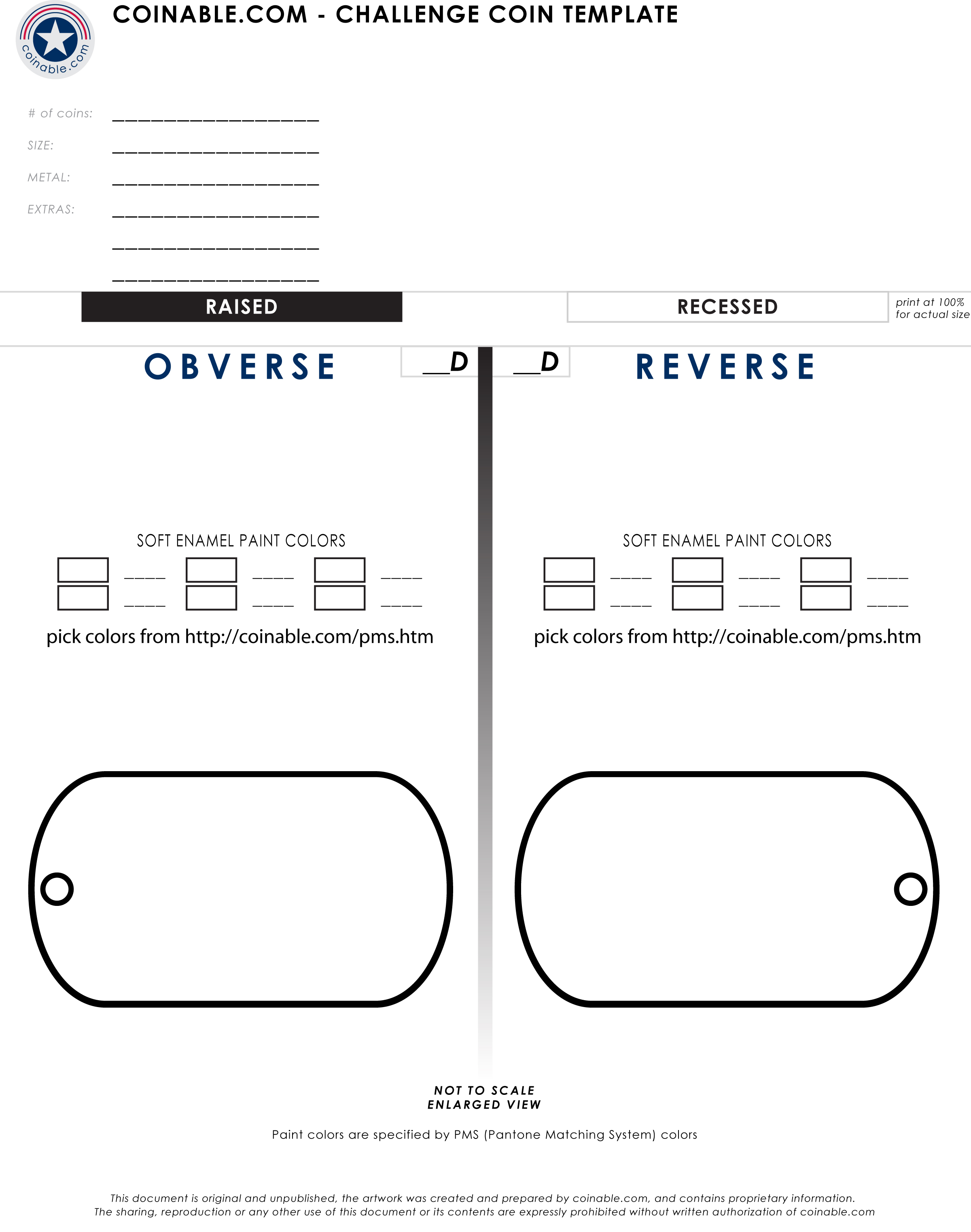 Dog Tag Challenge Coin Template